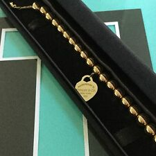Tiffany & Co. 18k Gold Bracelet Beaded  Return To Solid Gold $3500/new