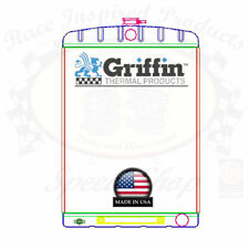 Griffin Universal Rat Rod Radiator w/ Automatic Transcooler 19x27.5 TCBR 1-70212