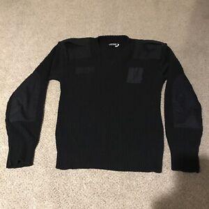 Blauer Dark Navy Men's 100% Wool Sweater - 3XL XXXL USA Made Police Security