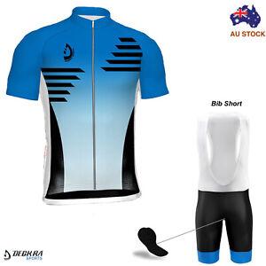 Cycling Jersey Half Sleeves / Bib Shorts Padded Summer Riding MTB Bicycle Kit
