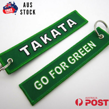TAKATA JET TAG GO FOR GREEN JDM  KEYCHAIN KEY RING AUS STOCK