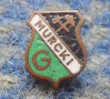 GORNIK MURCKI POLAND FOOTBALL SOCCER RUGBY ICE HOCKEY 1960's RARE PIN BADGE