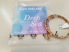 New Alex and Ani Water Metal Wrap Gold Finish Bangle New W/card and Bag