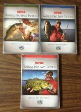 New listing (3) Rapala Pro Bass Tactics Fishing Dvd Volume 1,2, and 3 Set