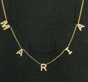 Collar oro 18k. Con nombre en oro con circonitas
