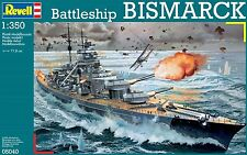 NEW REVELL 1:350 SCALE BISMARCK BATTLESHIP MODEL KIT 05040