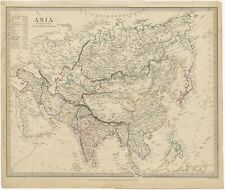Antique Map of Asia by Walker (1840)