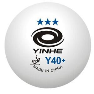 Table Tennis Balls Yinhe 6 x 3 Star New Materials Plastic White ITTF XUSHAOFA