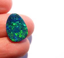 Beautiful Australian Opal Freeform Doublet Gem Grade 14x10mm (2608)
