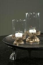 2er Set Windlicht Laterne Kerzenständer Deko Metall  Shabby Vintage Nostalgie