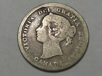 1872-H Canadian Five Cent Coin. CANADA 5¢.  #162