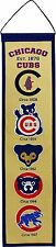 "Chicago Cubs MLB Fan Favorite Embroidered Heritage 32"" Banner Pennant"