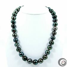 "Sale!! 17.5"" Beautiful Genuine Peacock Tahitian South Sea Pearl Necklace #TN641"