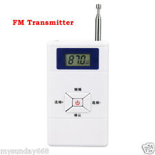 Portable FM Transmitter Radio Station/Audio Converter 70MHz-108MHz+Tracking