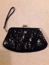 Coach  Special Occasion Sequin Framed Large Wristlet Clutch Black