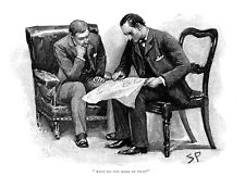 Sherlock Holmes in The Adventure of the crooked man as drawn by Sidney Paget