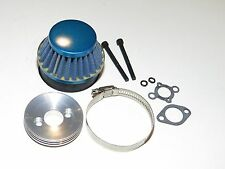 YY-MADMAX HPI KM ROVAN BAJA 1/5 5B 5IVE BLUE AIR FILTER W/ ALUMINUM MOUNT CHROME