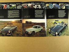 1974 MG MGB MGB/GT & Midget photos specs 6 page vintage print Ad
