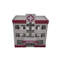 Outland Models Railroad Scenery Modern Medical Centre Hospital Building HO Scale