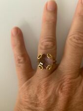 Gucci 18k Yellow Gold Horsebit Amethyst Ring.