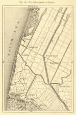 The Embankments of Petten. Netherlands. Sketch map 1886 old antique chart