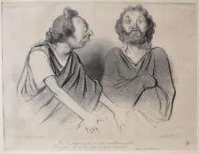 Honore Daumier France 1808 -1879 Lithograph Physionomies Tragico Classiques No 1
