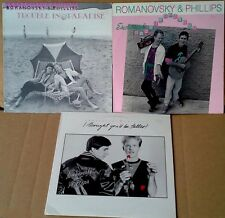 ROMANOVSKY & PHILLIPS -TROUBLE, EMOTIONAL ROLLER COASTER, I THOUGHT.- (3) LP LOT