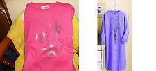 NEW Pink Hummingbird Lounger Sleep shirt New Size Med Deluxe BIG SALE SEE>>>>>