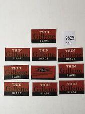 Vintage Thin Gillette Razor Blades