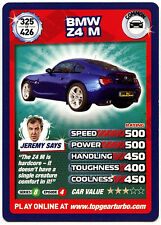 BMW Z4 M #325 Top Gear Turbo Challenge Trade Card (C362)