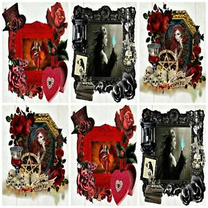 A TIME FOR GOTHIC Embellishments (12), Card Making Toppers, Card Toppers