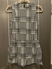 ZARA Houndstooth White And Black Playsuit Size M