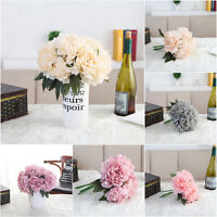 Bridal Bouquet Flowers Artificial Fake Craft Hydrangea Party Wedding Store Decor