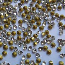 DIY 30 ud cuentas brillantes strass 6mm cristal claro abalorios