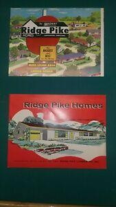 Vintage RIDGE PIKE HOMES Construction Brochures - Conshohocken, PA