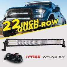 "32""inch 2448W CREE LED Light Bar Quad-Row Spot Flood Offroad Driving Fog Lamp"