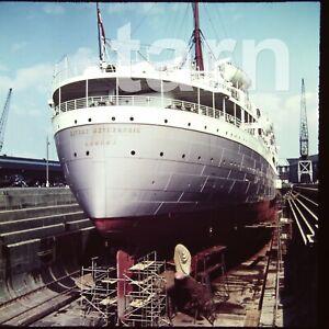 60 x 60 glass slide Cruise Ship Winchester Castle c1950s  r11