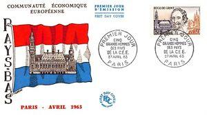 Enveloppe FDC France HUGO DE GROOT 1963 PARIS