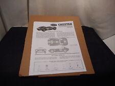 Cox Cheetah Instructions Reprint