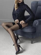 FIORE Glam Luxury Super Fine 20 Denier Sheer Satin Top Hold Ups - 2 Colours