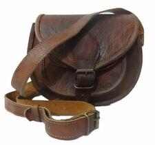 Women Bag Genuine Leather Cowhide Brown Cross body Shoulder Handmade Satchel
