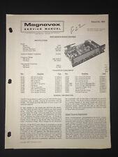 MAGNAVOX 1971 R312 SERIES RADIO CHASSIS VINTAGE SERVICE REPAIR MANUAL 1492