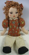 Vintage Cloth Calico Critters Bead Bag Doll