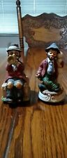 Waco Melody in Motion- Porcelain Hobo Clowns- Both Play Music Beautifully