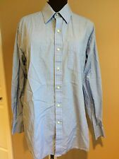 TOMMY HILFIGER ITHACA dress men shirt Striped 16 long sleeve 34-35 L Large