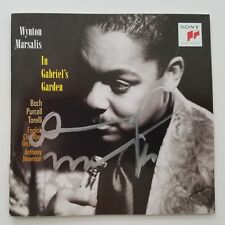 Wynton Marsalis Signed In Gabriel's Garden CD Booklet Trumpet LEGEND RAD