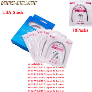 Dental Orthodontic Arch Wire Niti Super Elastic Rectangular Wires All Size 10Pks