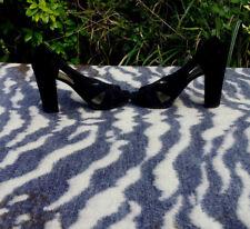 Nine West black suede leather high heeled shoes UK size 6.5 EU size 39.5US 8.5