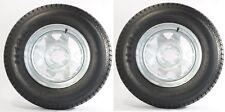 "2-Pack Trailer Wheel & Tire #427 ST205/75D14 205/75 D 14"" LRC 5 Bolt Galvanized"