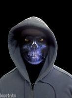 BLUE GRIM REAPER SCARY HALLOWEEN NOVELTY LYCRA FABRIC FACE MASK FANCY DRESS